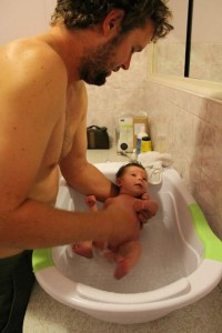 Daddy bath time